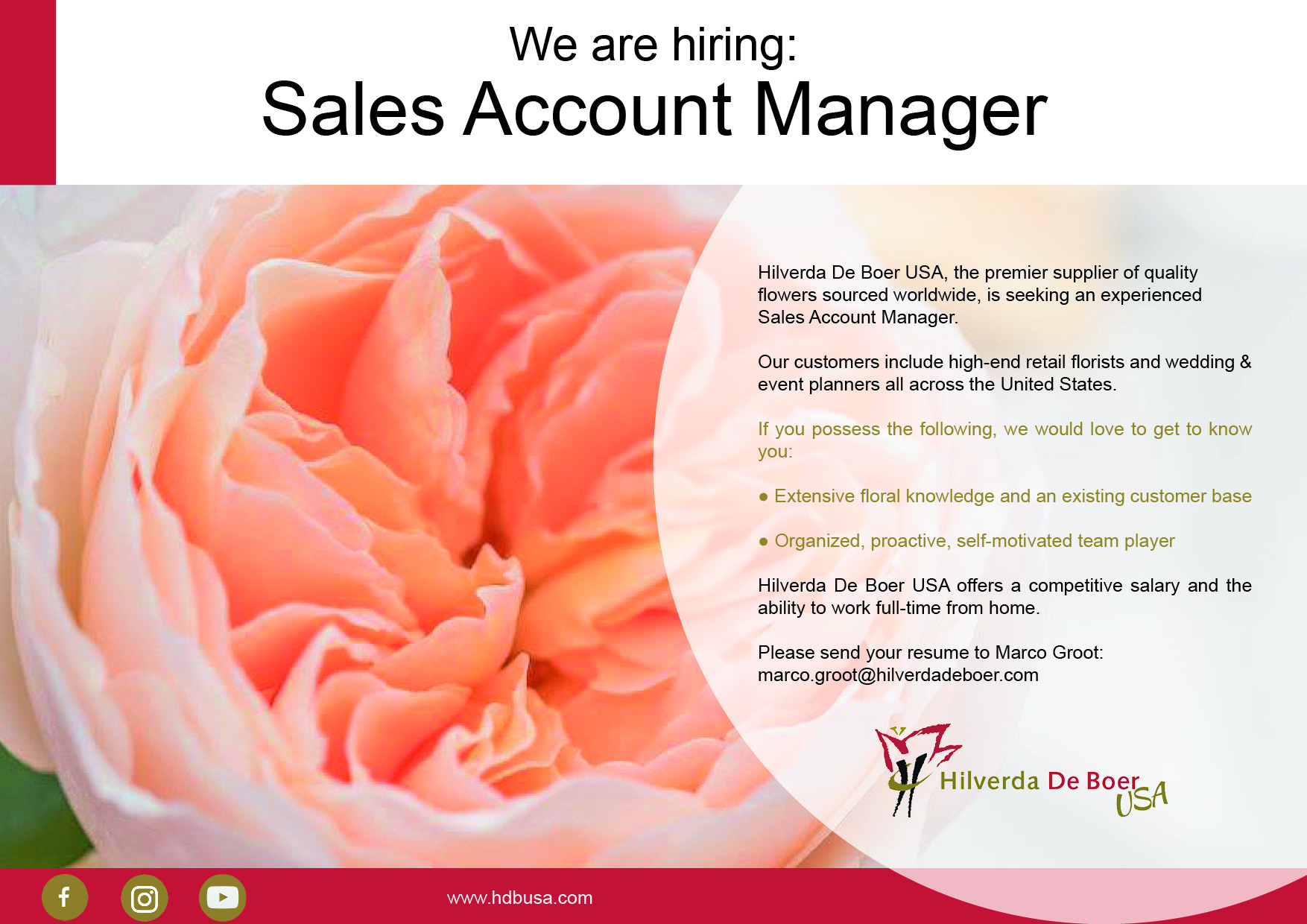 Vacature USA Sales Account Manager