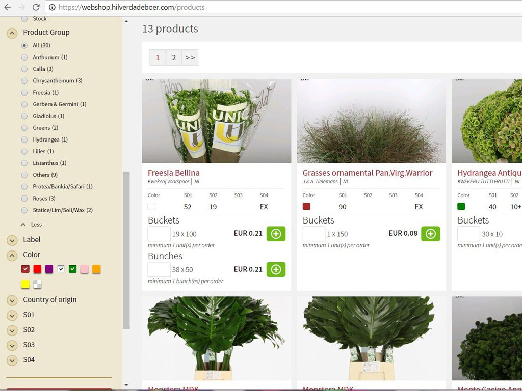 webshop hilverda de boer